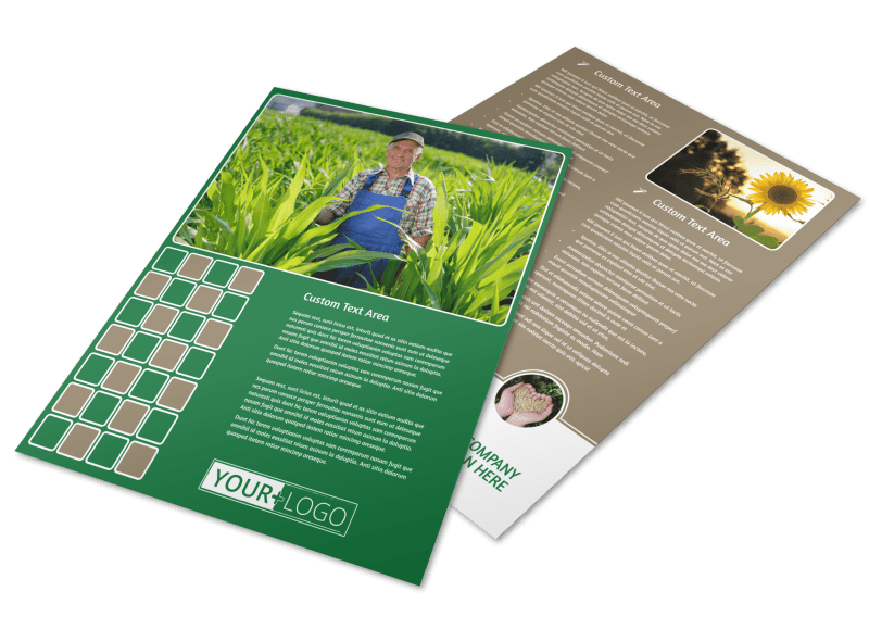 Agribusiness Consulting Flyer Template Preview 1