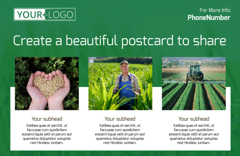 Agribusiness Consulting Postcard Template Preview 2
