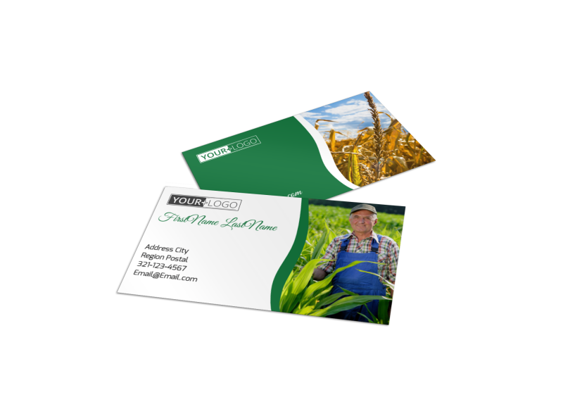 Agribusiness Consulting Business Card Template Preview 1