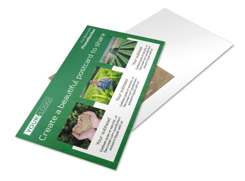 Agribusiness Consulting Postcard Template
