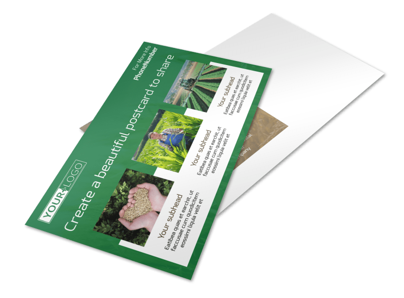 Agribusiness Consulting Postcard Template Preview 1