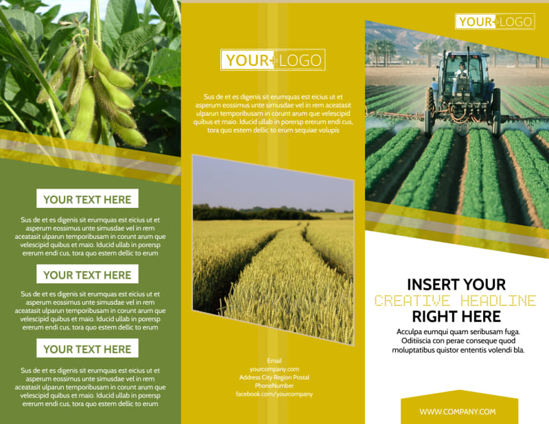 Crop Protection Company Brochure Template Preview 2