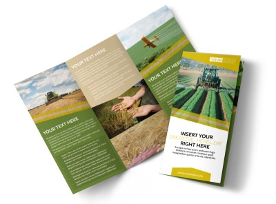 Crop Protection Company Tri-Fold Brochure Template preview