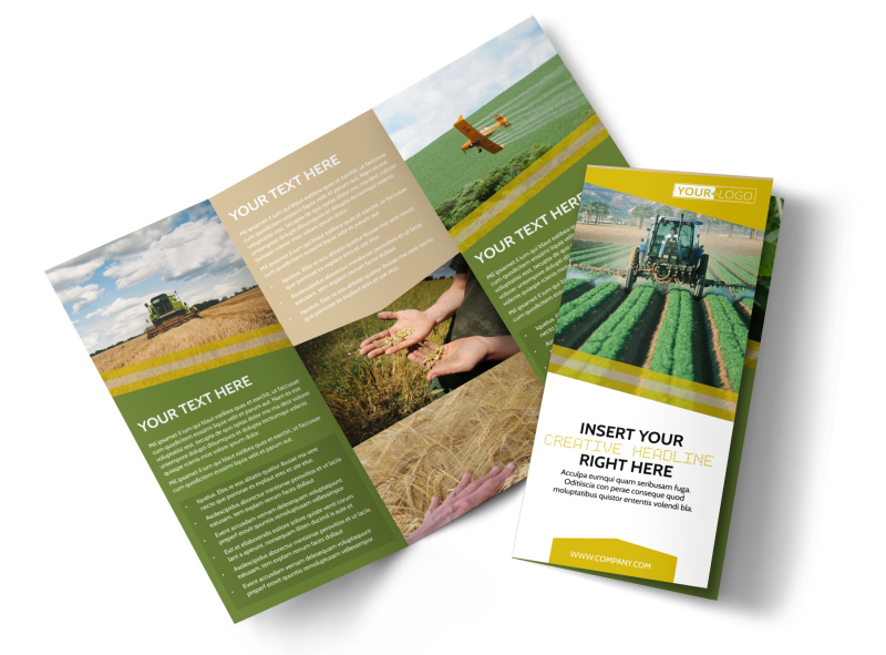 Crop Protection Company Brochure Template Preview 1