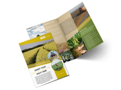 Crop Protection Company Bi-Fold Brochure Template preview