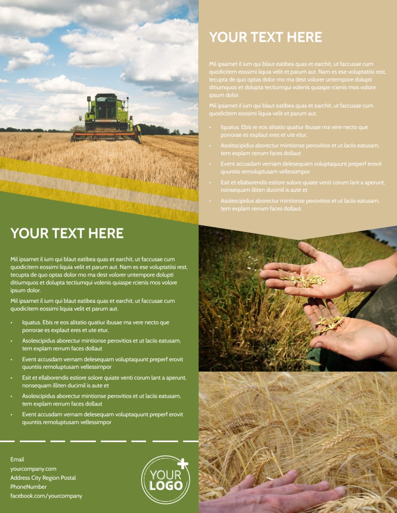 Crop Protection Company Flyer Template Preview 3