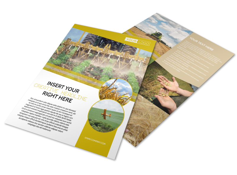 Crop Protection Company Flyer Template Preview 1