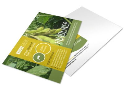 Crop Protection Company Postcard Template preview