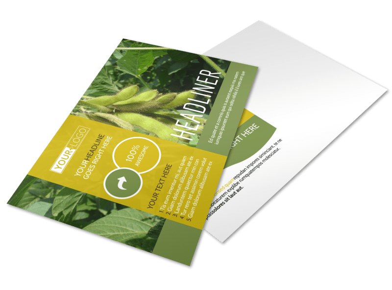 Crop Protection Company Postcard Template Preview 1