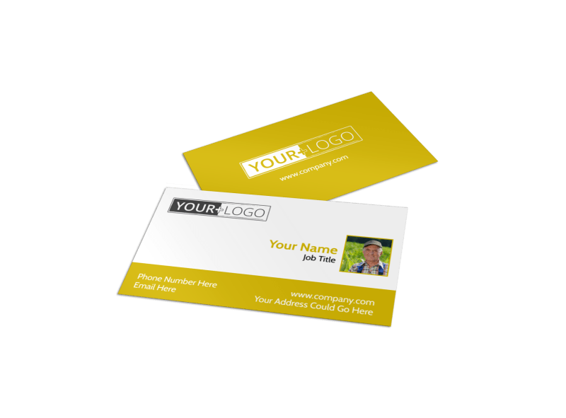 Crop Protection Company Business Card Template Preview 1