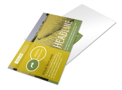 Crop Protection Company Postcard Template