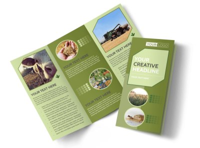 Agricultural Marketing Firm Tri-Fold Brochure Template