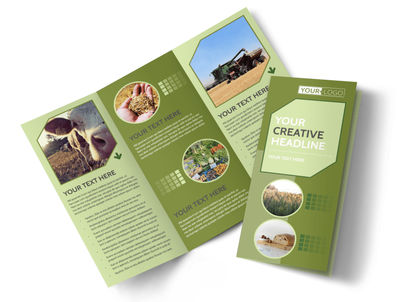Agricultural Marketing Firm Brochure Template Preview 1