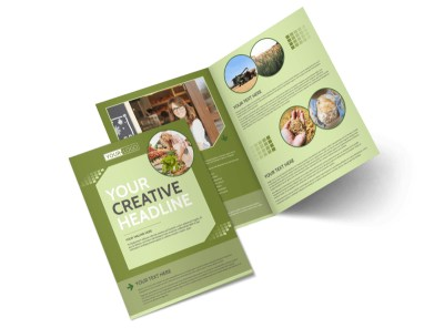 Agricultural Marketing Firm Bi-Fold Brochure Template