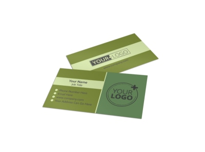 Agricultural Marketing Firm Business Card Template preview