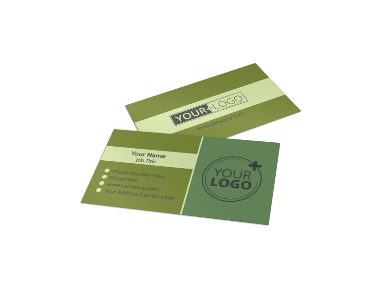 Agricultural Marketing Firm Business Card Template Preview 1