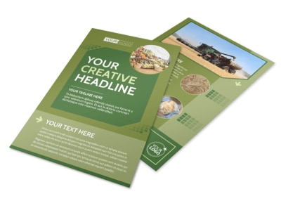 Agricultural Marketing Firm Flyer Template preview