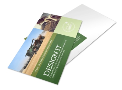 Agricultural Marketing Firm Postcard Template preview