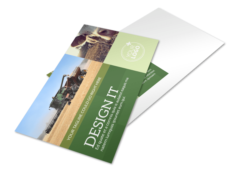 Agricultural Marketing Firm Postcard Template Preview 1