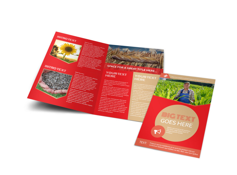 Agricultural Farm Consultants Brochure Template Preview 4