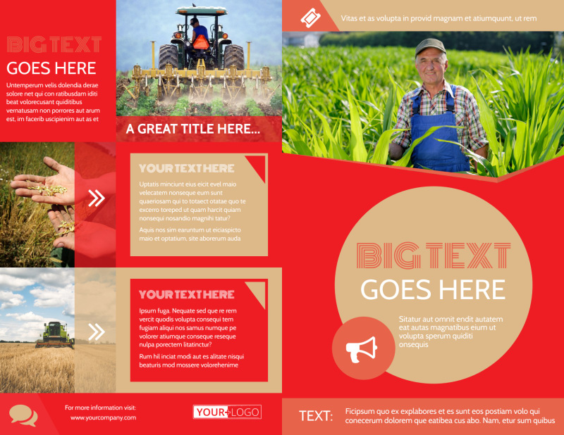 Agricultural Farm Consultants Brochure Template Preview 2