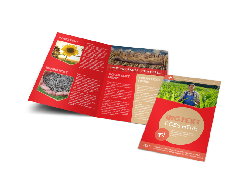 Agricultural Farm Consultants Brochure Template Preview 1