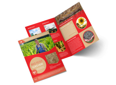 Agricultural Farm Consultants Bi-Fold Brochure Template preview