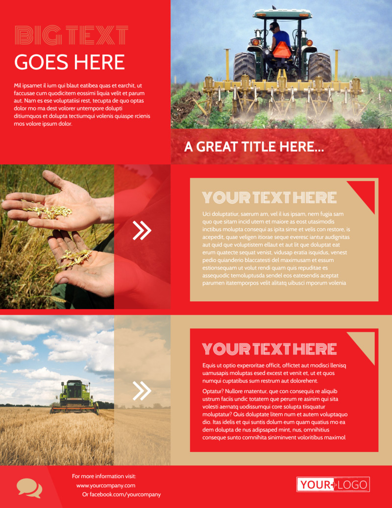 Agricultural Farm Consultants Flyer Template Preview 3