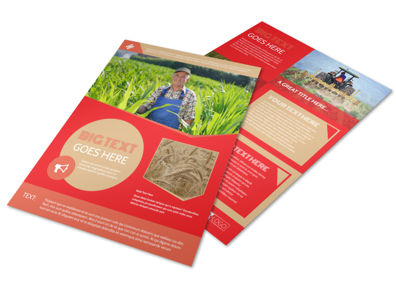 Agricultural Farm Consultants Flyer Template Preview 1