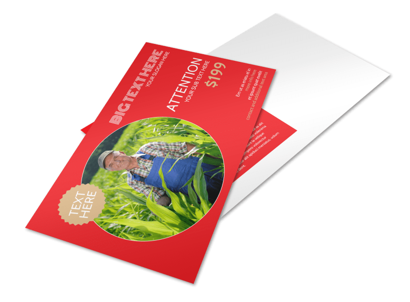 Agricultural Farm Consultants Postcard Template Preview 1
