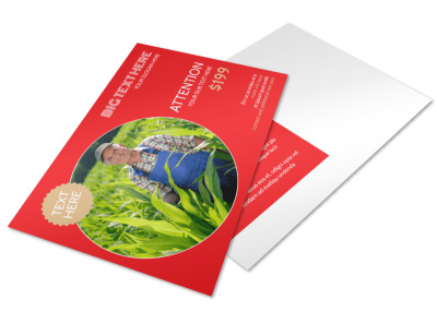 Agricultural Farm Consultants Postcard Template preview