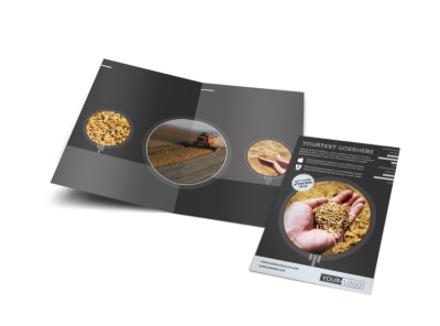 Seed Company Bi-Fold Brochure Template preview