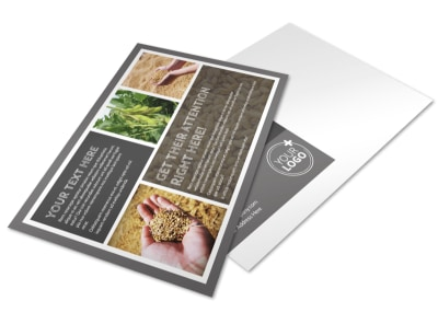 Seed Company Postcard Template preview
