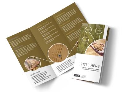 Crop Advisors Tri-Fold Brochure Template preview