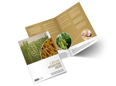 Crop Advisors Bi-Fold Brochure Template preview