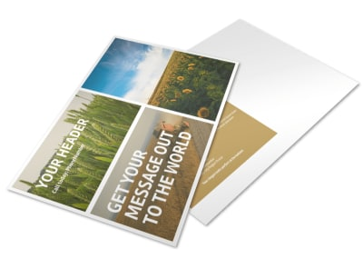 Crop Advisors Postcard Template preview