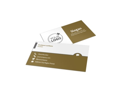 Crop Advisors Business Card Template preview