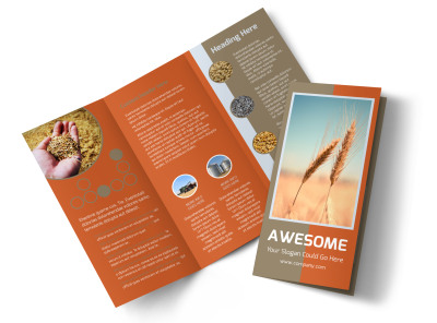 Ag Consultants Tri-Fold Brochure Template preview