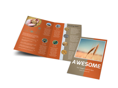 Ag Consultants Bi-Fold Brochure Template preview
