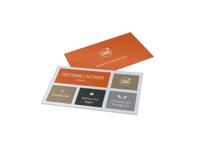 Ag Consultants Business Card Template preview