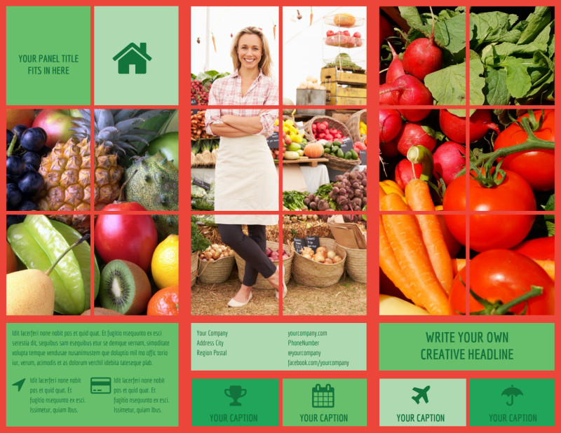 Fresh Local Produce Brochure Template Preview 2