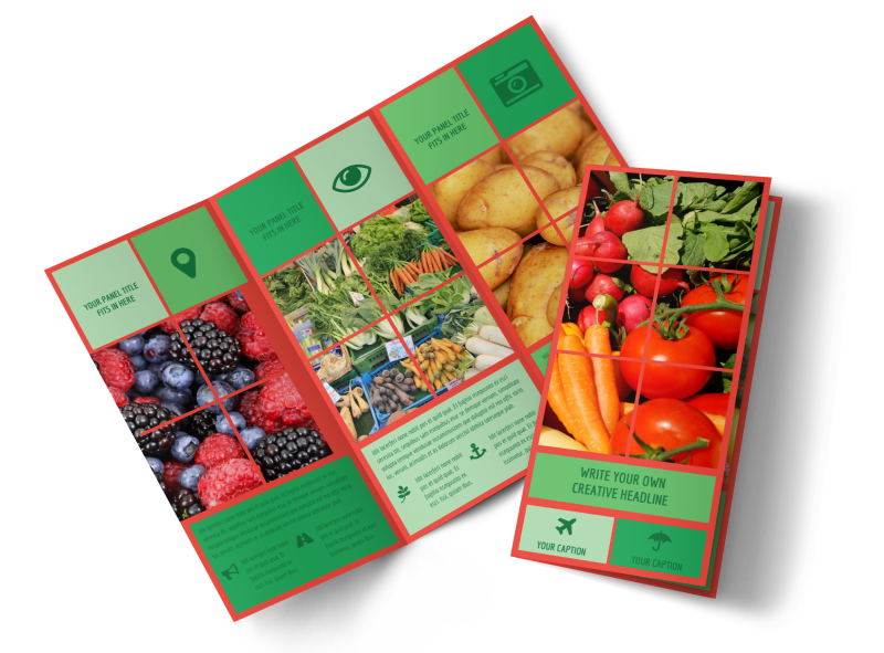 Fresh Local Produce Brochure Template Preview 1