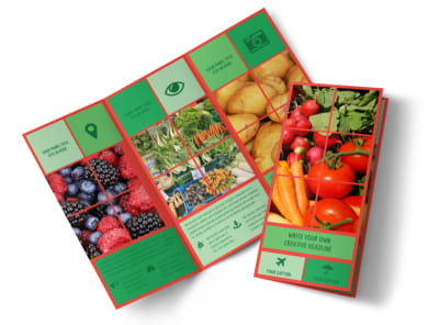 Fresh Local Produce Tri-Fold Brochure Template