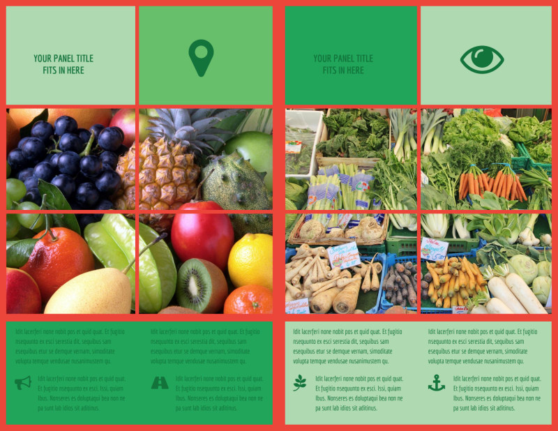 Fresh Local Produce Brochure Template Preview 3