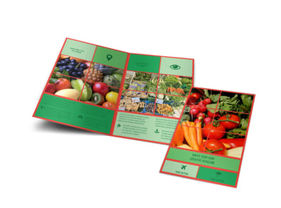 Fresh Local Produce Bi-Fold Brochure Template