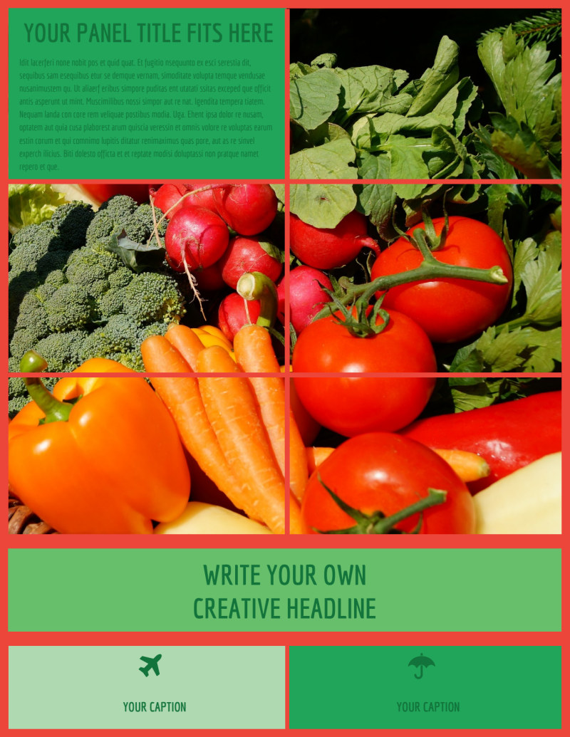 Fresh Local Produce Flyer Template Preview 2