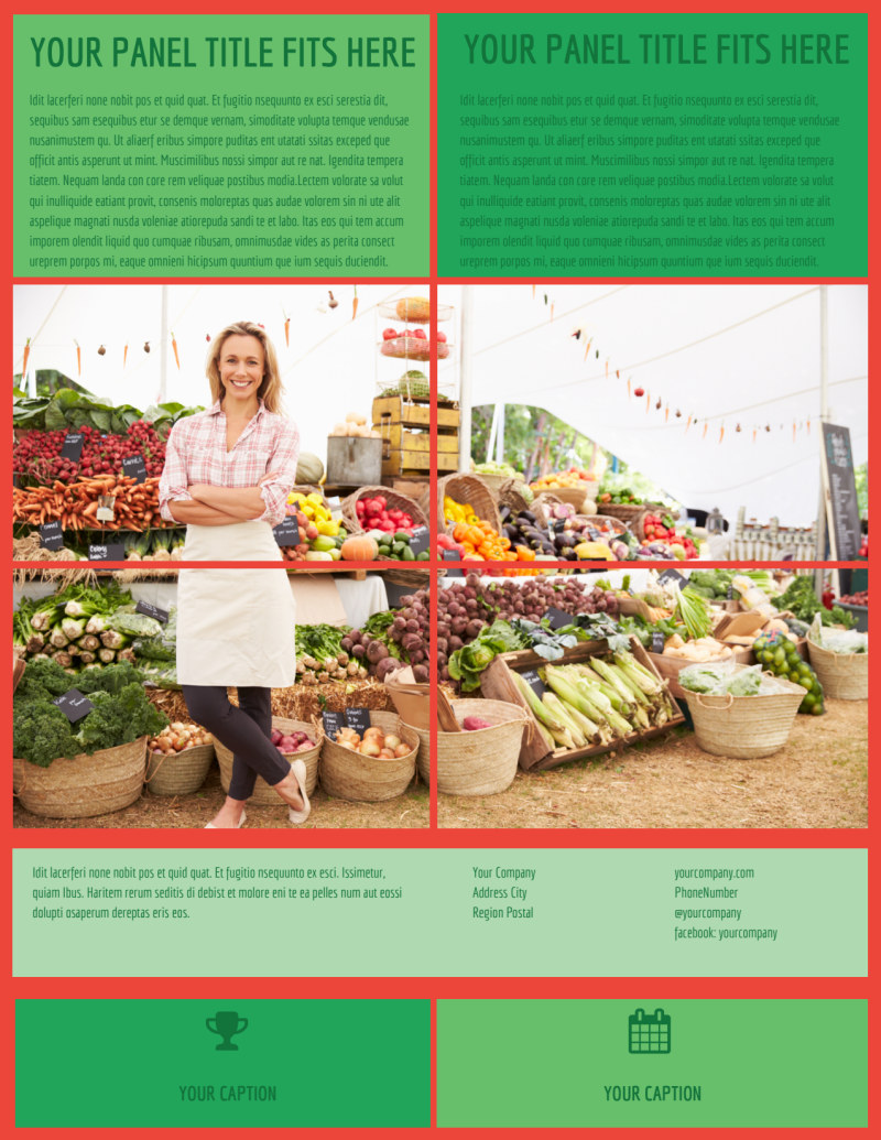 Fresh Local Produce Flyer Template Preview 3