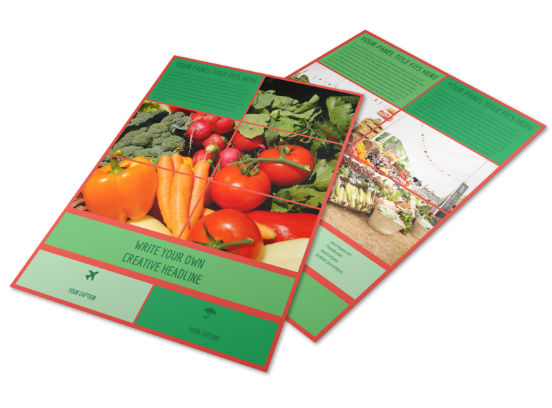 Fresh Local Produce Flyer Template Preview 1
