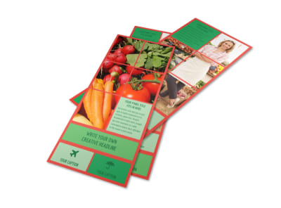 Fresh Local Produce Flyer Template preview