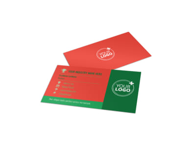 Fresh Local Produce Business Card Template preview
